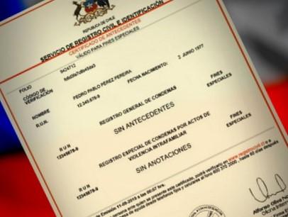 Certificado de Antecedentes Penales en Chile0